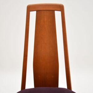 1960's Set of 8 Danish Teak Dining Chairs by Niels Koefoed