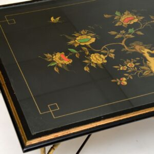 vintage retro brass chinoiserie coffee table