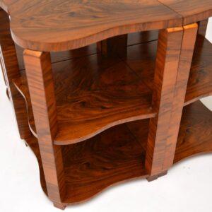 1920's Art Deco Walnut Nesting Coffee Table