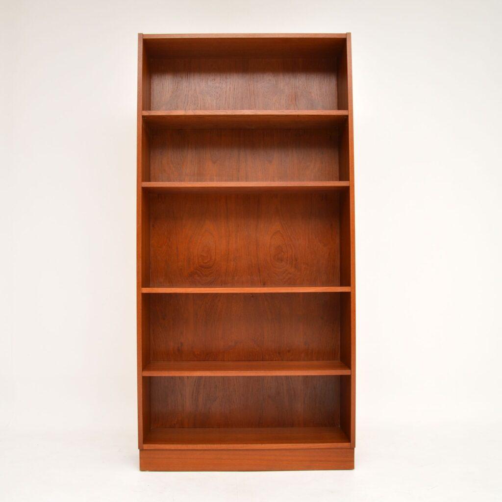 danish retro vintage teak bookcase