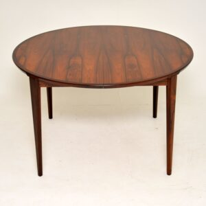 1960's Danish Rosewood Dining Table by Rosengren Hansen