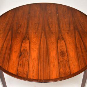 danish rosewood retro vintage dining table rosengren hansen