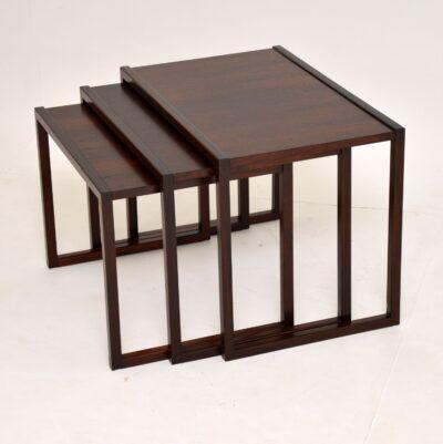 danish retro vintage rosewood nest of tables kai kristiansen