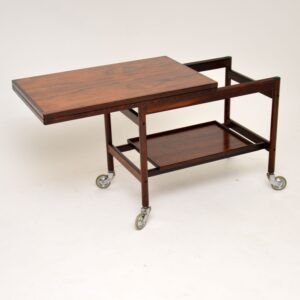1960's Danish Rosewood Drinks Trolley by Kurt Ostervig