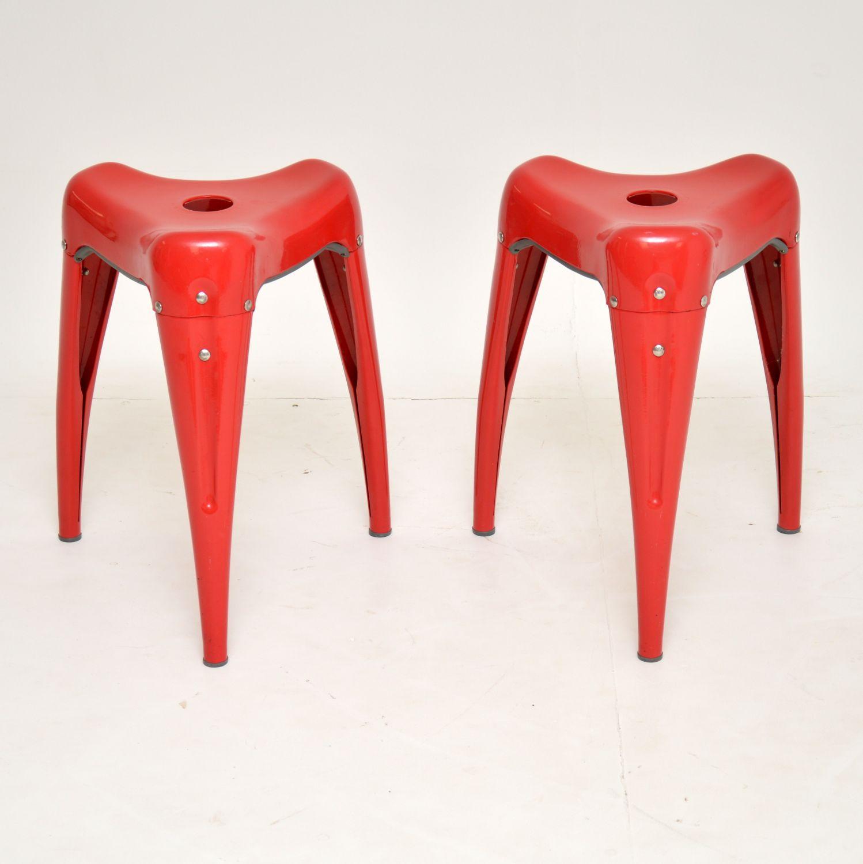 pair retro vintage stools yasu sasamoto wisdom tooth stools