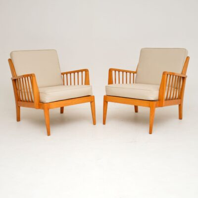 pair of retro vintage armchairs by george stone