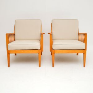 1950's Pair of Vintage Armchairs by George Stone