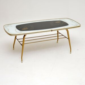 1960's Vintage Brass Coffee Table