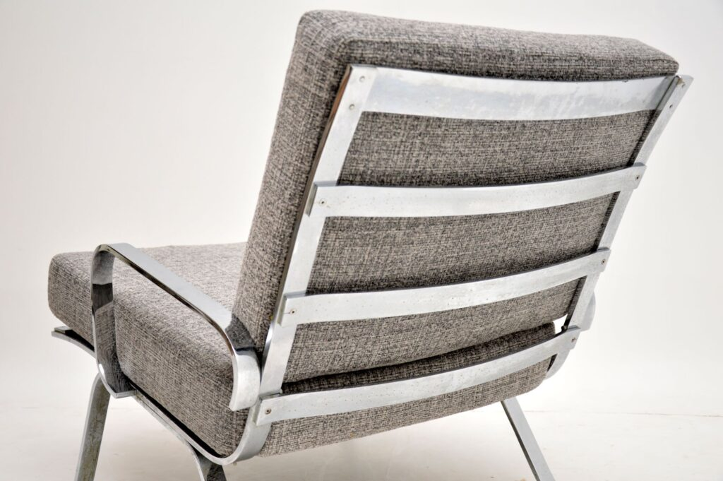 retro vintage chrome armchair arne norell olivier mourgue
