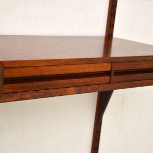 danish rosewood retro vintage wall unit royal shelving cado