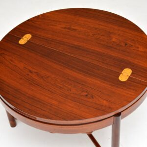 retro vintage rosewood sewing table rastad and relling syklus