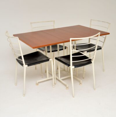 teak retro vintge ladderax dining table and chairs