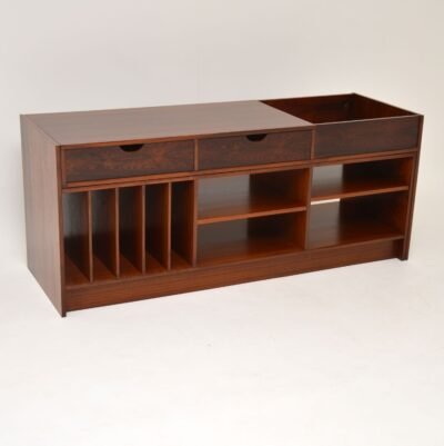 swedish rosewood retro vintage sideboard media cabinet