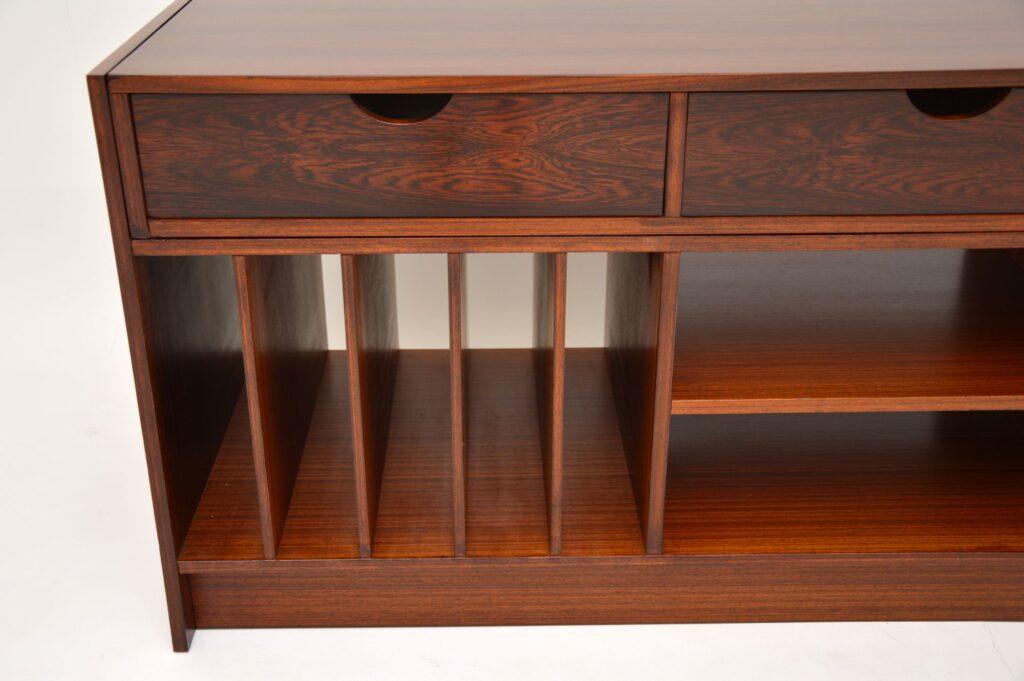 swedish rosewood retro vintage sideboard media cabinet