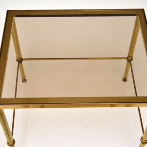 retro vintage antique italian brass glass nest of tables