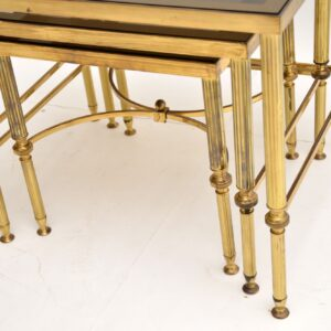 1950's Italian Brass & Glass Nest of Tables