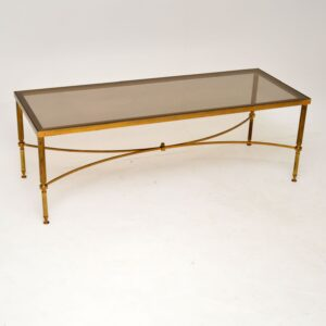 retro vintage antique brass glass italian coffee table