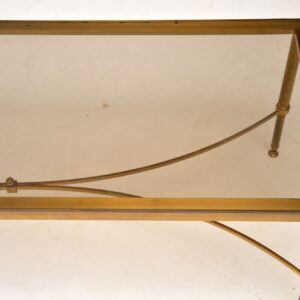 1950's Italian Brass & Glass Coffee Table