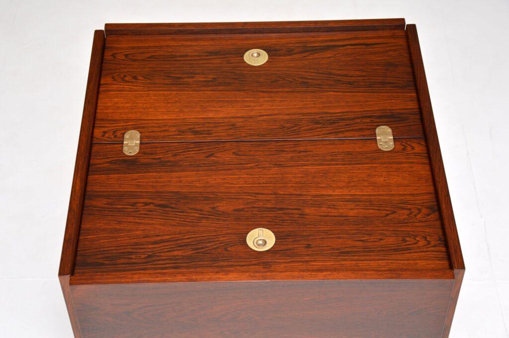 danish retro vintage rosewood coffee table archie shine robert heritage drinks cabinet