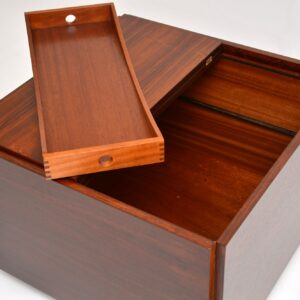 Rosewood & Brass Coffee Table / Drinks Cabinet by Robert Heritage