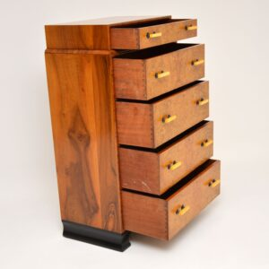 1930's Art Deco Burr Elm & Walnut Chest of Drawers