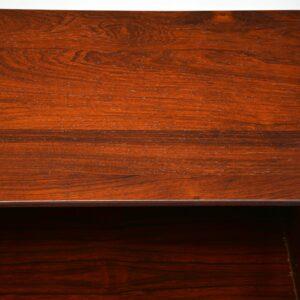 danish retro rosewood open bookcase cado poul cadovius