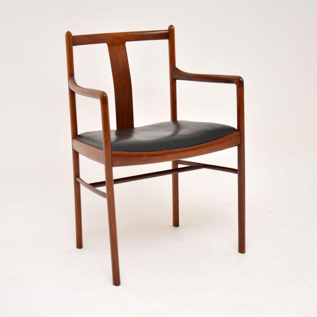 danish retro rosewood vintage armchair desk chair