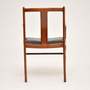 Danish Vintage Rosewood & Leather Armchair / Desk Chair
