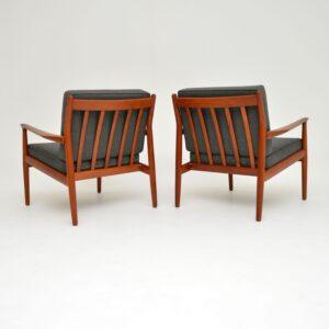 Pair of Danish Teak Vintage Armchairs by Grete Jalk
