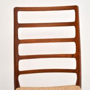 pair of danish rosewood retro vintage dining chairs niels moller model 82