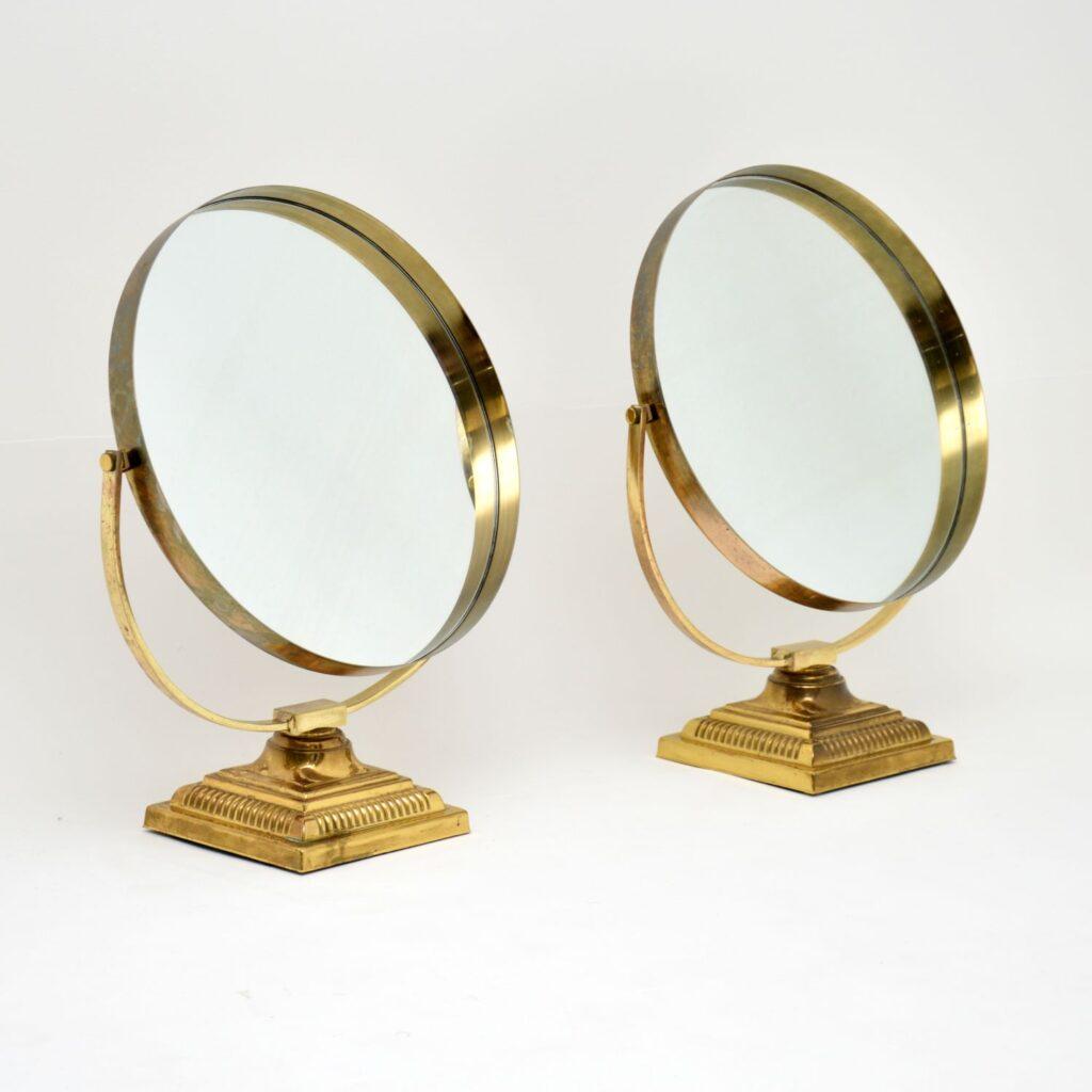 retro vintage brass vanity mirror mirrors durlston designs