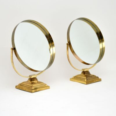 retro vintage brass vanity mirror mirrors durlston designs