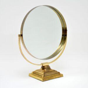 Pair of Vintage Brass Durlston Design Vanity Mirrors