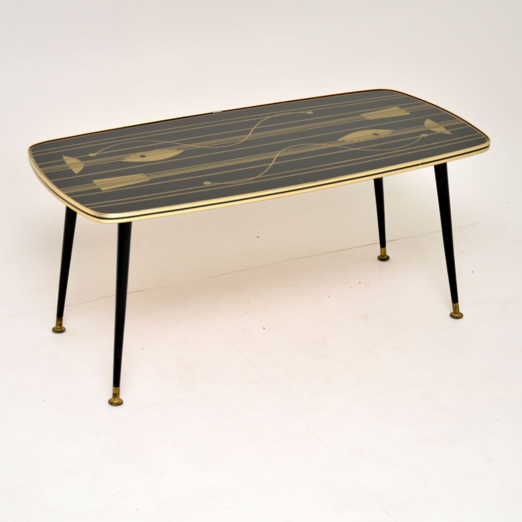 retro vintage atomic coffee table
