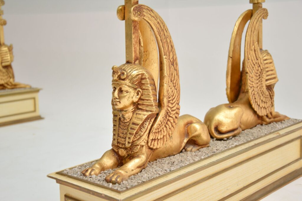 antique vintage egyptian coffee table