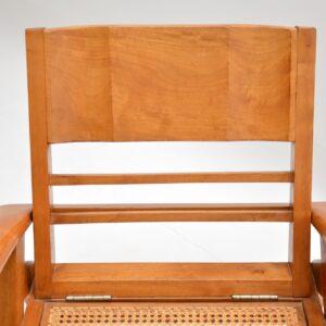 retro vintage cane satin wood colonial armchair