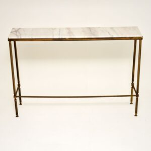 retro vintage brass marble console table