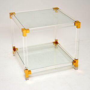 vintage retro glass perspex acrylic coffee table