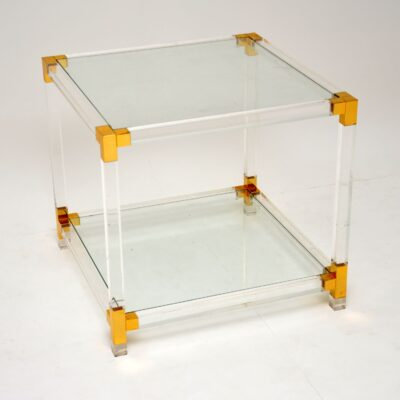 vintage retro glass perspex acrylic coffee table