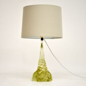 retro vintage glass murano italian table desk lamp