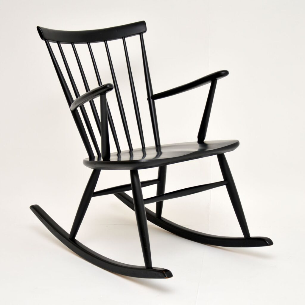 retro vintage swedish rocking chair hagafors roland rainer