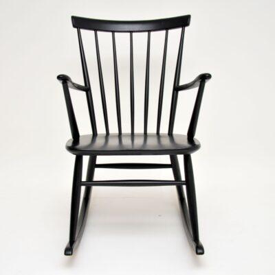 retro vintage swedish rocking chair hagafors roland rainer