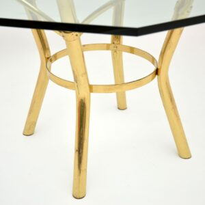 retro vintage brass glass hexagonal dining table