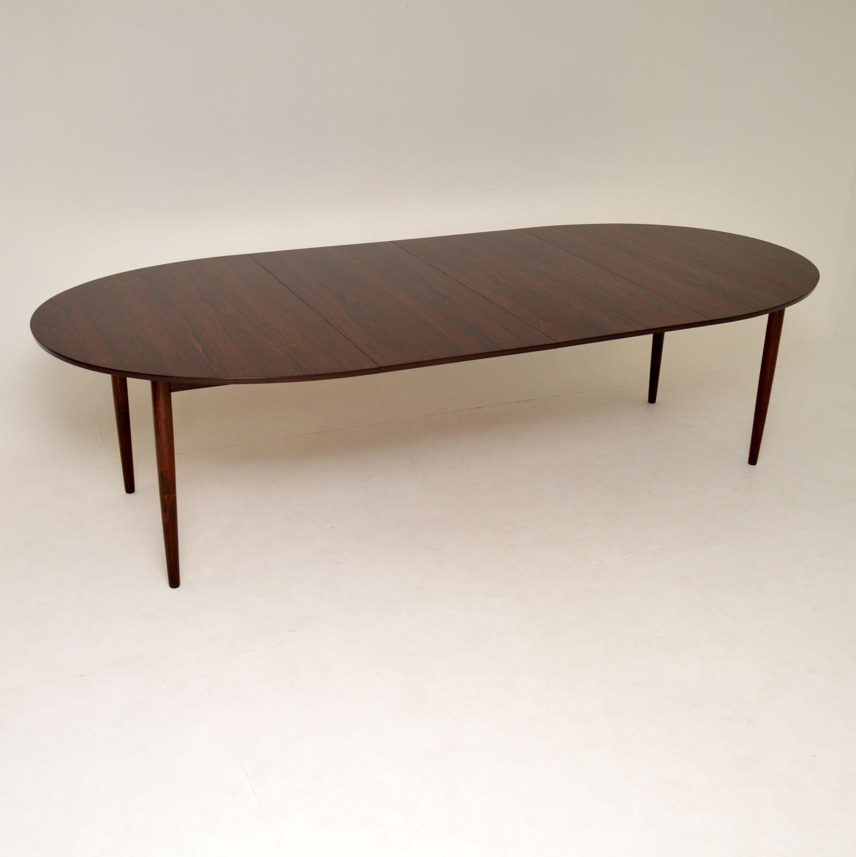 danish rosewood retro vintage dining table finn juhl