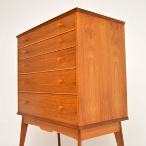 retro vintage walnut chest of drawers by alfred cox