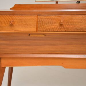 retro vintage walnut dressing table by Alfred Cox