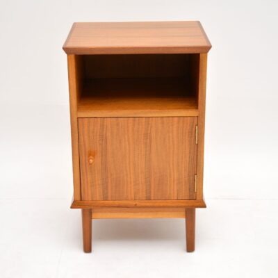 retro vintage walnut bedside cabinet by alfred cox