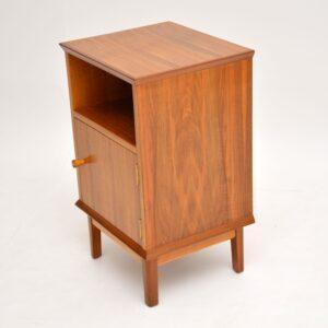 Vintage Walnut Bedside Cabinet by Alfred Cox
