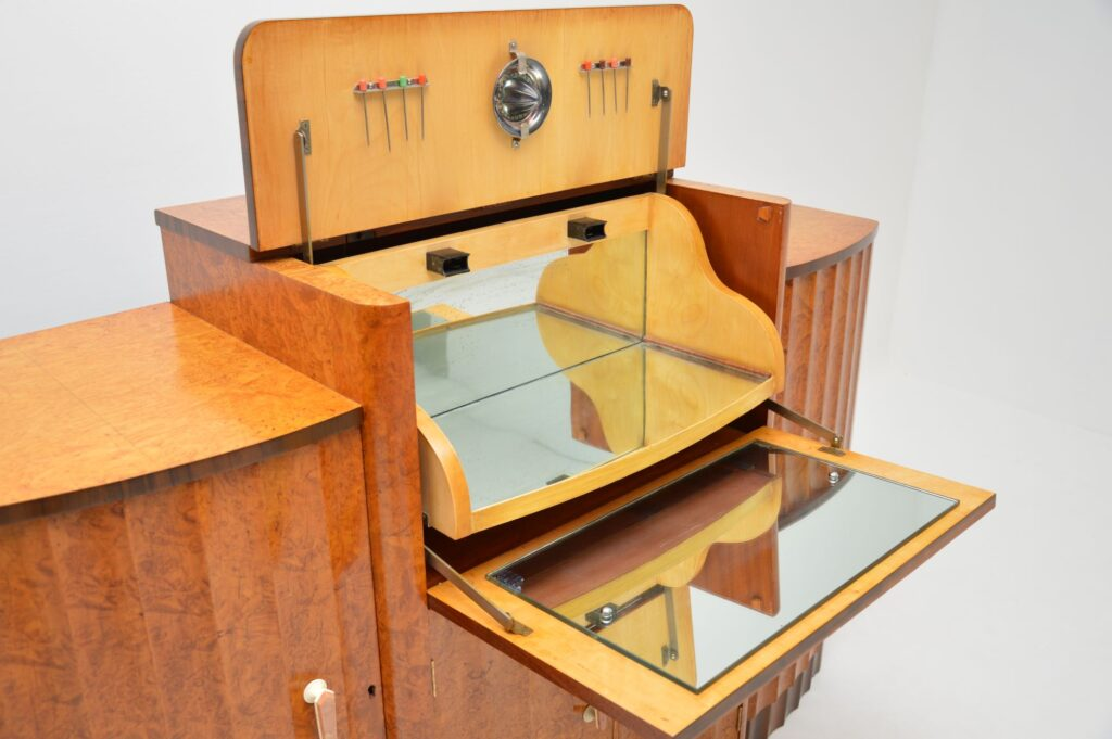art deco epstein drinks cocktail cabinet sideboard