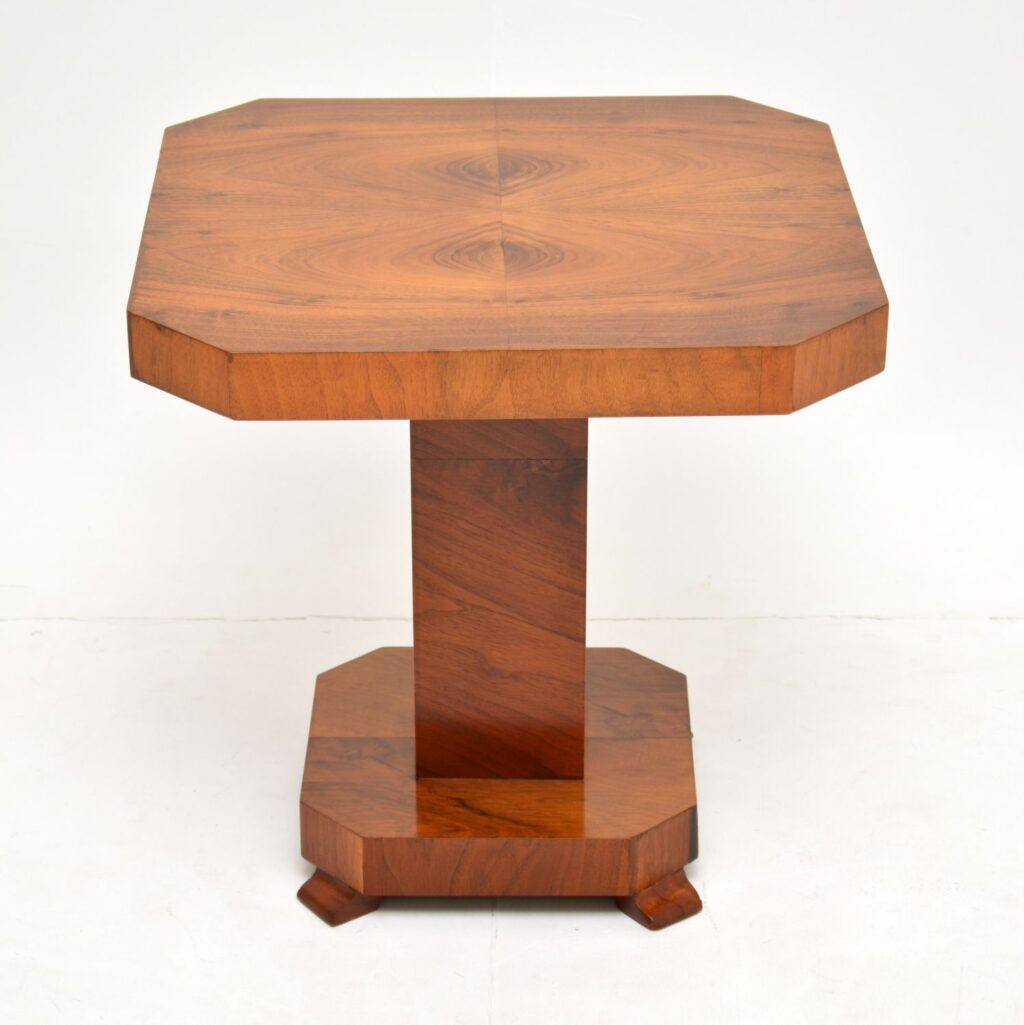 art deco walnut coffee table